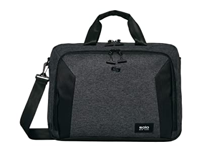 Solo New York Nomad Route 15.6 Slim Briefcase with Shoulder Strap (Grey/Black) Bags