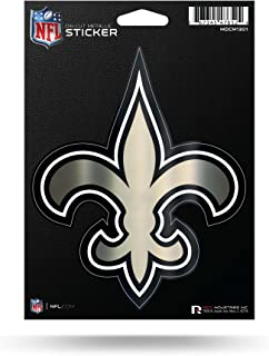 Rico Industries NFL Unisex-Adult Die Cut Metallic Sticker