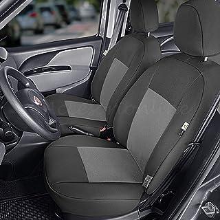 Fundas para asientos grises para Fiat Doblo asiento del coche delante de referencia