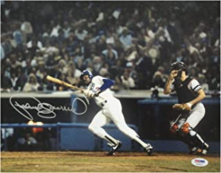 Pedro Guerrero Autographed Photo - 11x14 Homer Run Swing - PSA/DNA Certified - Autographed MLB Photos