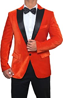 Tuxedo Orange Tuxedo Black Peak Lapel Suit Mens Dinner Jacket
