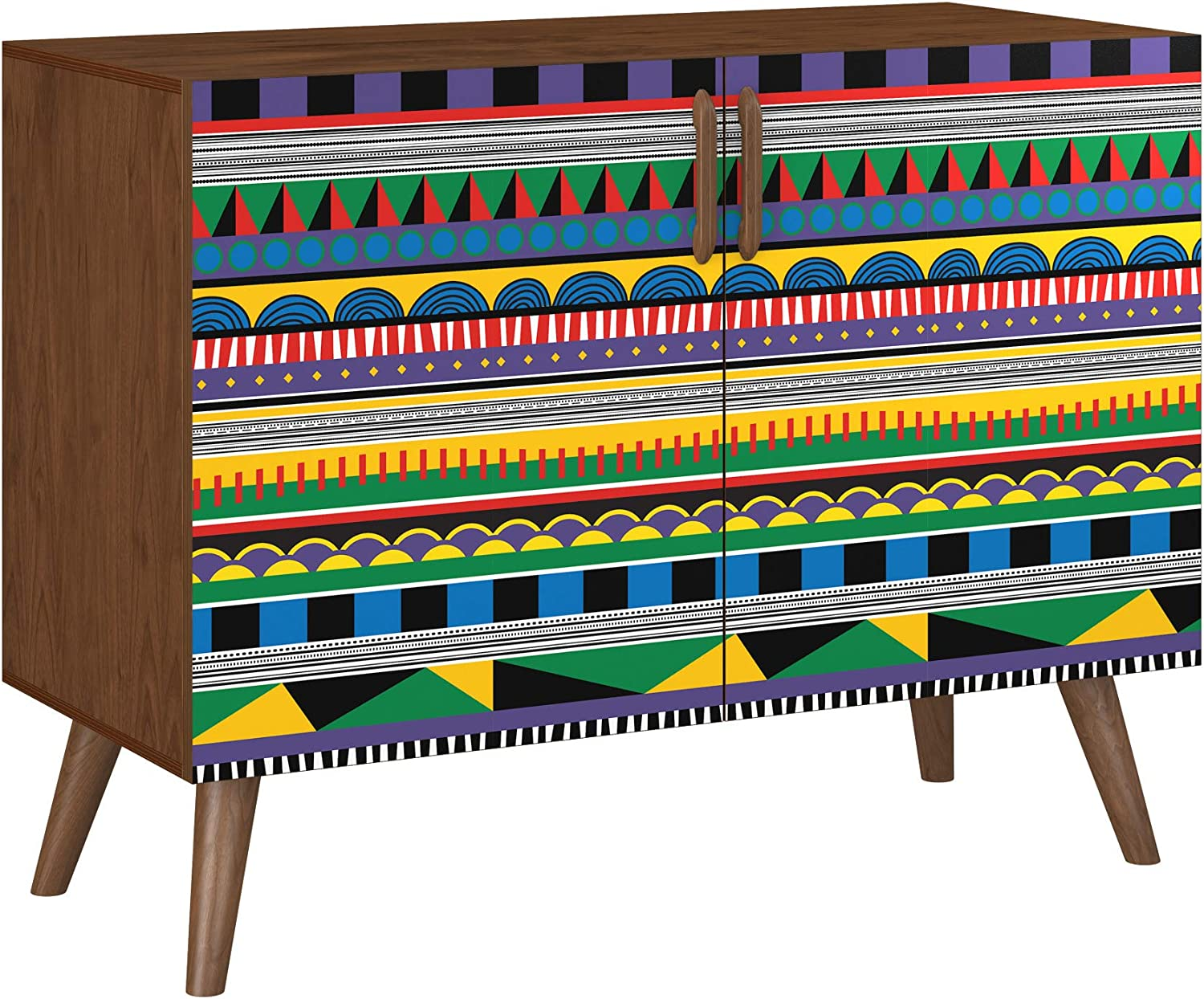Popularity Poppy Credenza gift - Walnut Sadie Design in Style 11 5 Base Colors