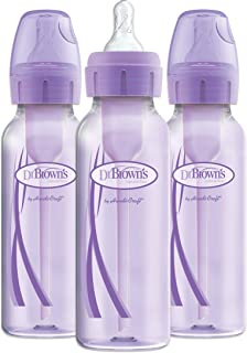Dr. Brown's Optios+ Baby Bottles, 8 Ounce, Purple, 3 Count