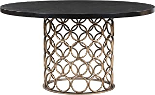 TOV Furniture Valentina Modern Dining Room Table Brass Round