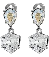 Oscar de la Renta - Shield Crystal Drop C Earrings