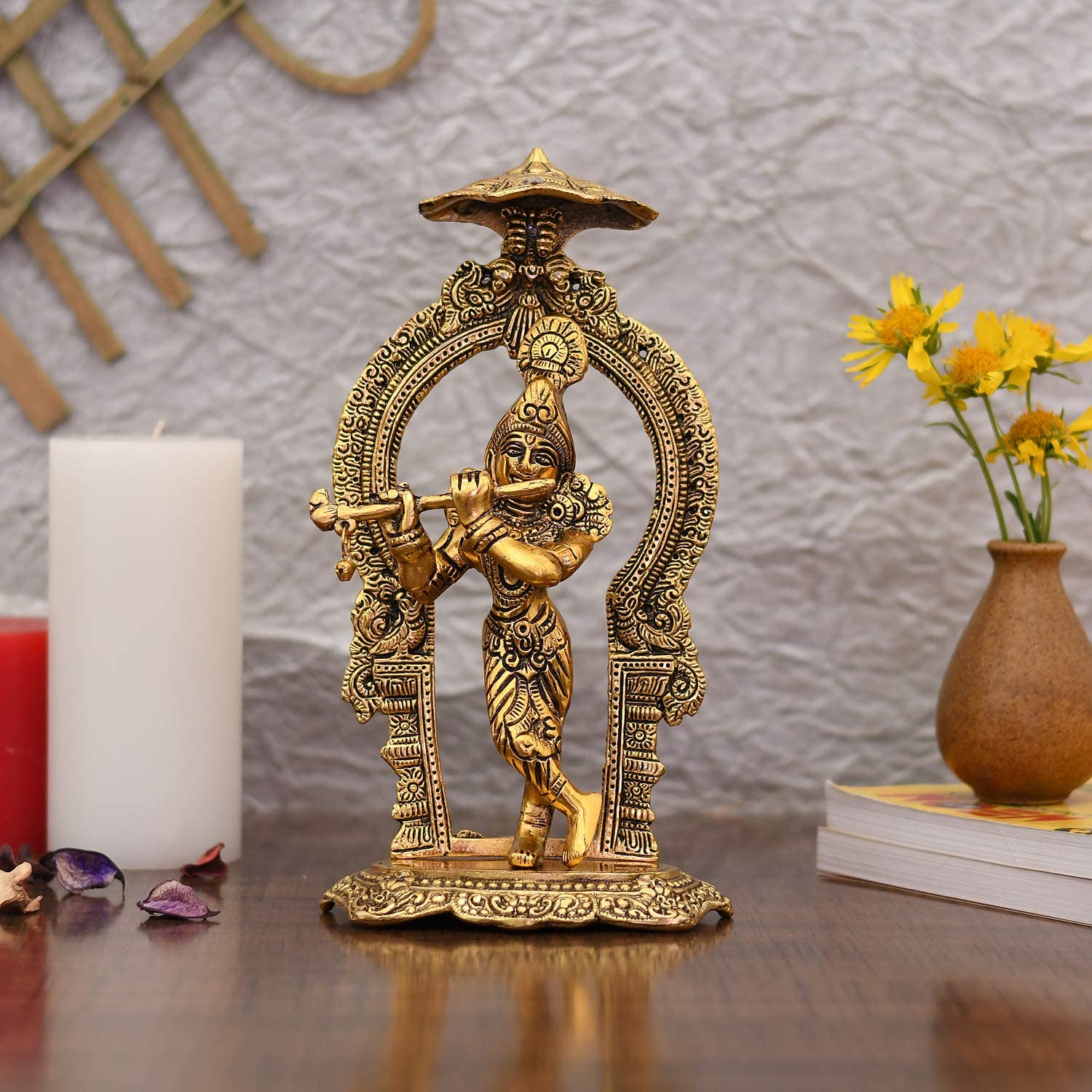 Collectible India Metal Krishna Idols Statue Home Manufacturer OFFicial shop Fashion Deco for Pooja