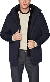 Calvin Klein mens Calvin Klein Rip Stop Hooded Jacket With Inner Fleece Bib Jacket