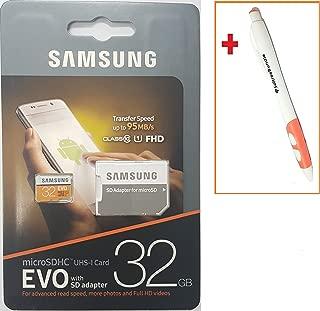 韩国正品 32GB 三星 MicroSDHC Class 10 存储卡 32GB 三星 Galaxy Tab 4 GALAXY S5 Active Ace 3 变焦环迷你 Ativ Q Tab 3 S Neo + SoltreeBundle 圆珠笔(黑色)