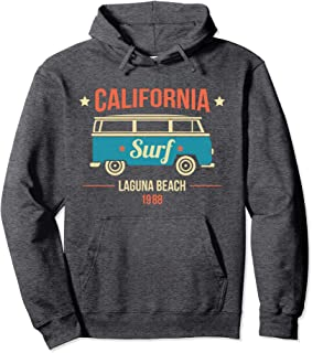 Hoodie Cotton California Laguna Beach Surf Van 1988