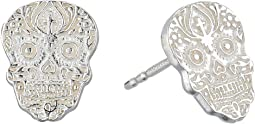 Calavera Post Earrings - Precious Metal