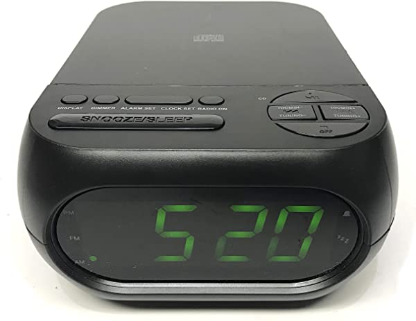 Onn CD AM FM Alarm Clock Radio With USB Port To Charge Devices Aux In Jack Top Loading CD Player ONA 202 Renewed