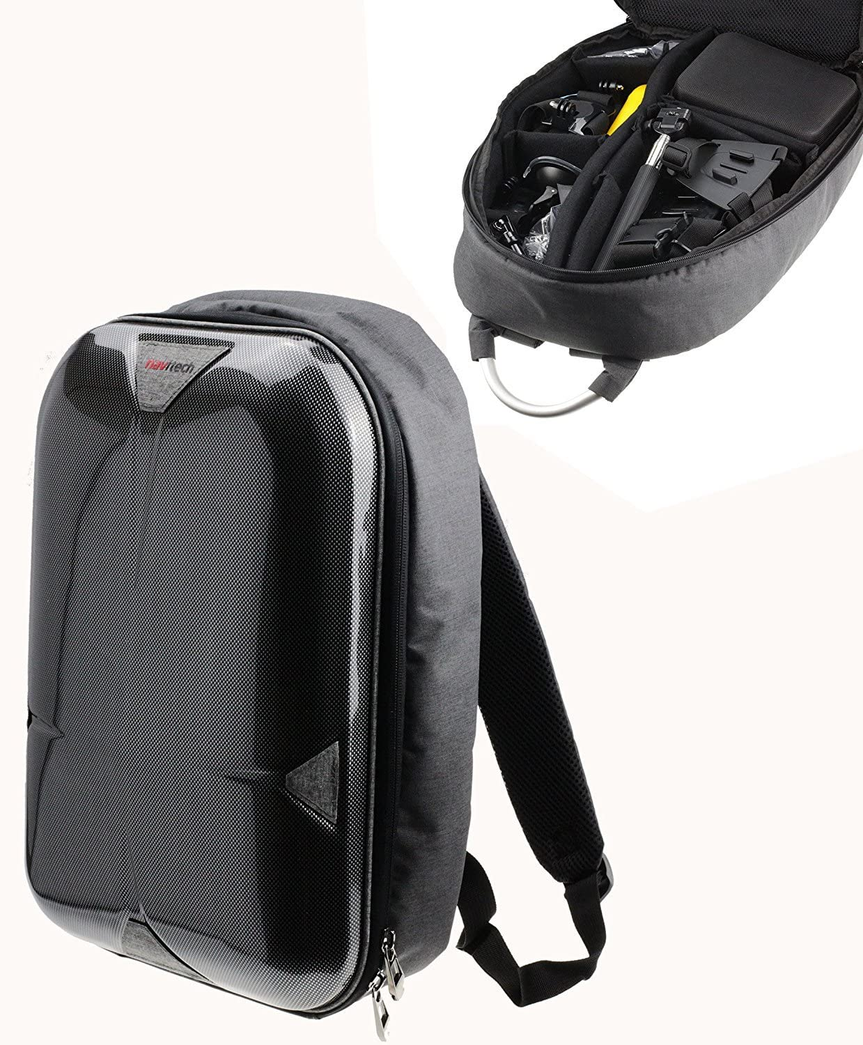 Navitech Hard Jacksonville Mall Shell Action Camera Compati All stores are sold Rucksack Backpack Case
