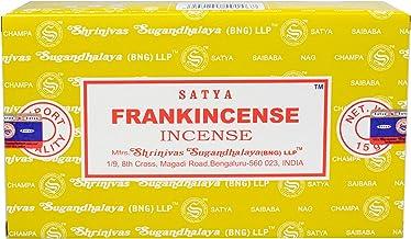 156 Satya Frankincense Incense 180g (12 boxes of 15g each) Sai Baba Nag Champa Franceschino
