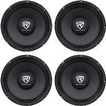 "4) Rockville RM104PRO 10"" 2400 Watt 4-Ohm SPL Car Midrange Mid-Bass Pro Speakers"