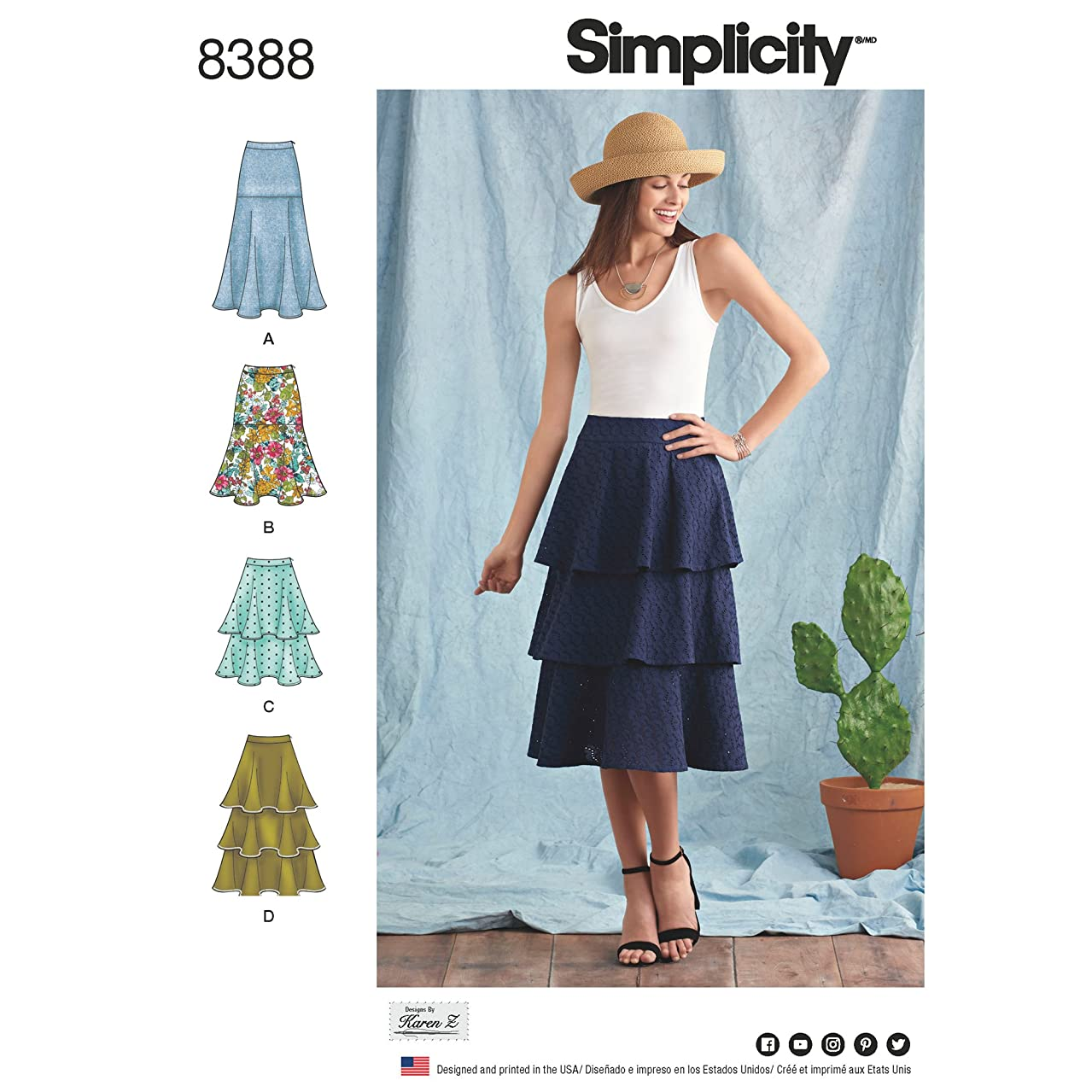Simplicity Creative Patterns US8388R5 Skirts & Pants Sewing Pattern R5 (14-16-18-20-22)