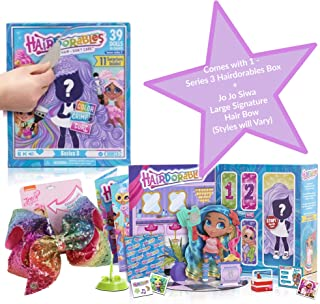 Girls Hairdorables Doll with JoJo Siwa Bow Gift Set, JoJo Siwa Bow (Styles, Color Vary), Hairdorables Series 3 SurpriseDoll with Accessories |Collectible Surprise Doll and Accessories Toys for Girl