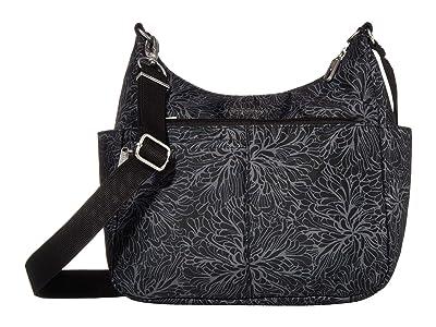 Baggallini Anti-Theft Free Time Crossbody (Midnight Blossom) Handbags