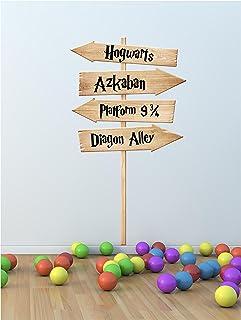 Harry Potter Hogwarts película lugares Sign Post Ventilador de pared adhesivo Art Print (otros tamaños disponibles), vinilo, Small 28cm x 50cm