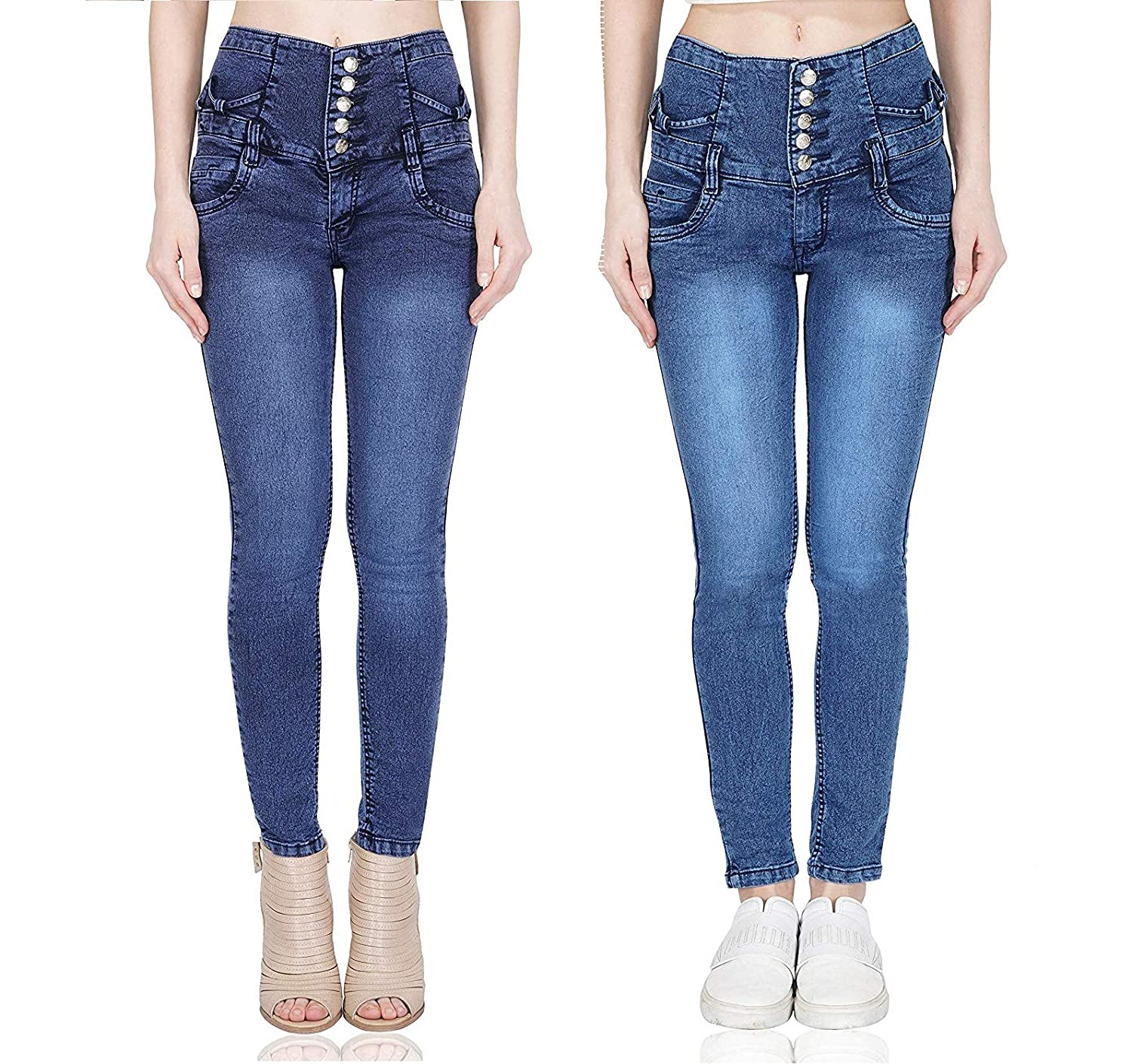 Buy Luxsis Women's Slim Fit Jeans (Pack of 2) at Amazon.in