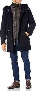 معطف صوف رجالي من Cole Haan مطبوع عليه Melton Anorak