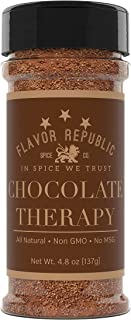 Sweet Cocoa Seasoning, Full-Bodied Mocha Powder Topping Spice Blend. Chocolate Therapy - Flavor Republic (4.8 oz)