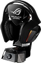 ASUS ROG Centurion - Auriculares Gaming True 7.1 con micrófono digital, amplificador de auriculares ESS, estación de audio USB, almohadillas intercambiables