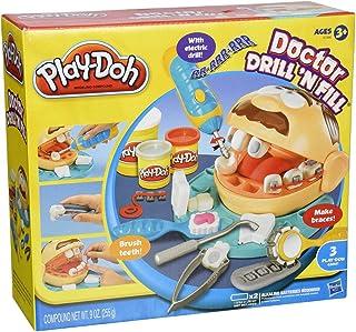 لعبة معجون بلاي-دوه طبيب الاسنان دريل اند فيل من هاسبرو متعددة الالوان - 37366