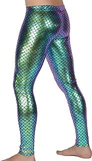 Mermaid Meggings USA Made Holographic Men's Leggings: Festival Party Costume
