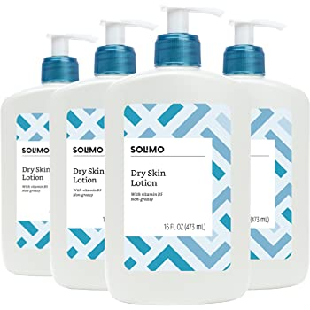 Amazon Brand - Solimo Dry Skin Lotion with Vitamin B5, 16 Fluid Ounce (Pack of 4)