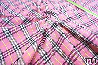 Plaid Tartan Woven Cotton Fabric Material 44