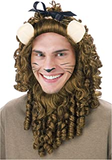 Fun Costumes Deluxe Adult Cowardly Lion Wig Standard