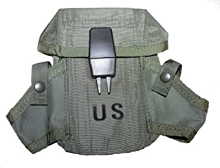 NEW US Army Military Ammunition Ammo OD Olive Drab Green 300 Round Magazine M16 Rifle Hand Grenade LC-1 SMALL ARMS CASE Pouch with Alice Clips by US Goverment GI USGI Unicor