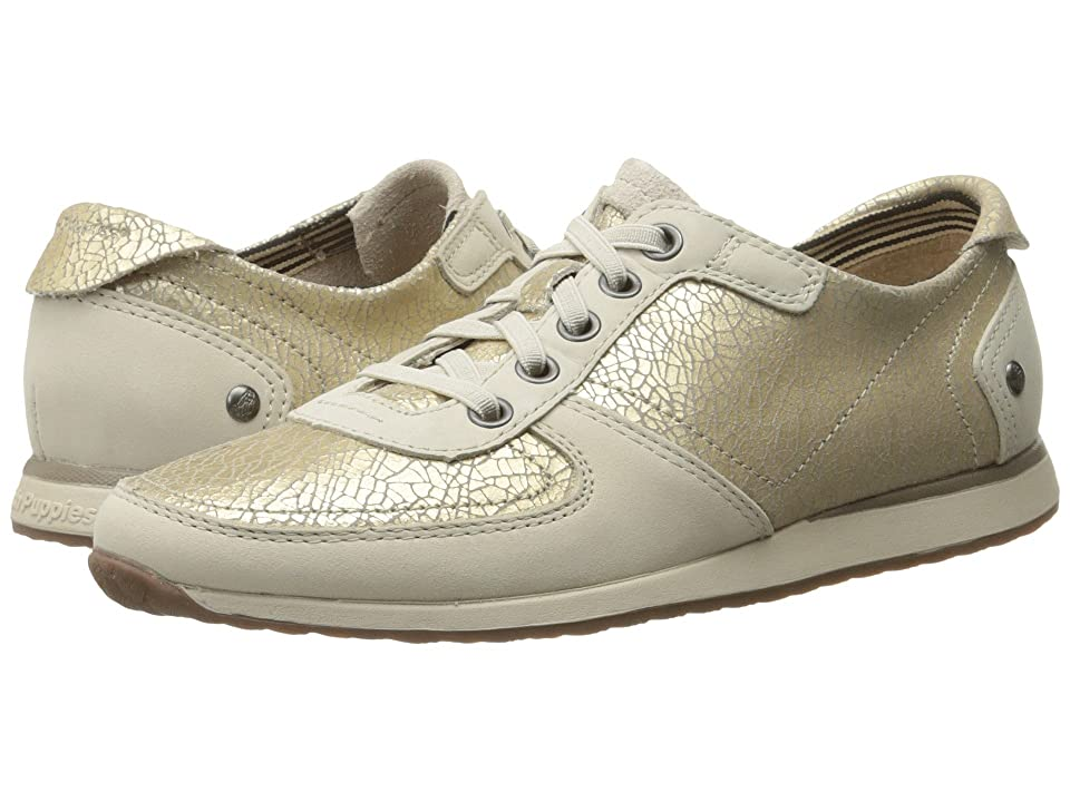 Hush Puppies Chazy Dayo (Light Gold Crackled Leather) Women
