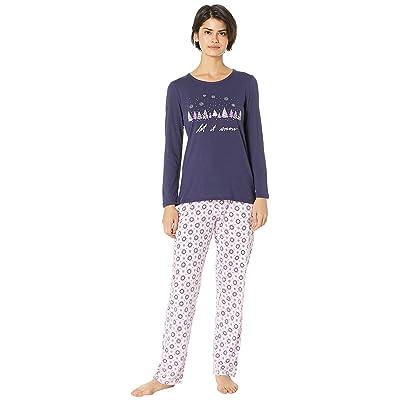 Nautica Graphic Pajama Set (Pink Geo) Women