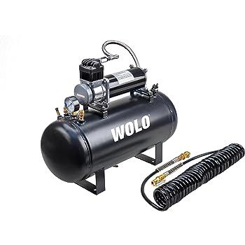 Viking Horns V103C//1006ATK 5 Gallon Air Tank and 200 PSI Air Compressor Kit