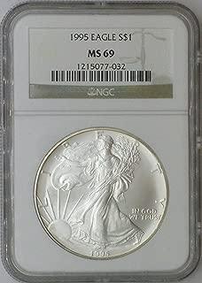 1995 American Eagle $1 MS69 NGC MS