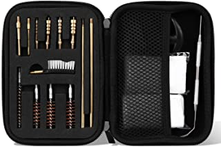 comprar comparacion ProCase Kit de Limpieza de Pistola Universal para Pistola de Calibre de 9 mm 22 40 45 357 38,Bolsa de Rango Portátil Compa...