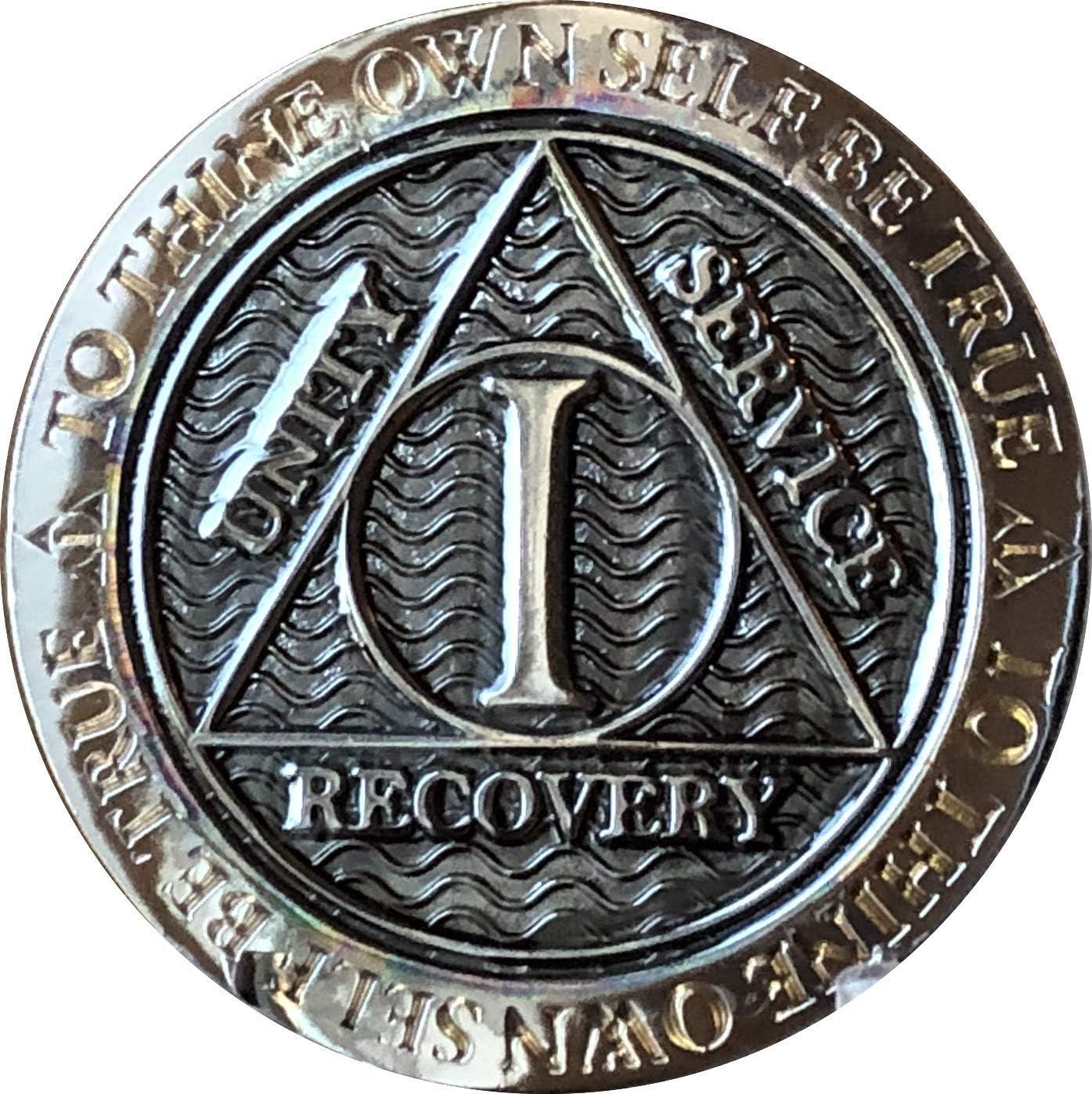 1 Fees free Year AA Max 74% OFF Medallion Gunmetal Prayer Serenity Reflex Chip Design