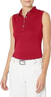 Women's Moisture Wicking, UPF 50+, Sleeveless Clare Polo Shirt