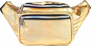 SoJourner Bum Bag Fanny Pack Holographic Gold | for women, men and kids | cute fits small medium large