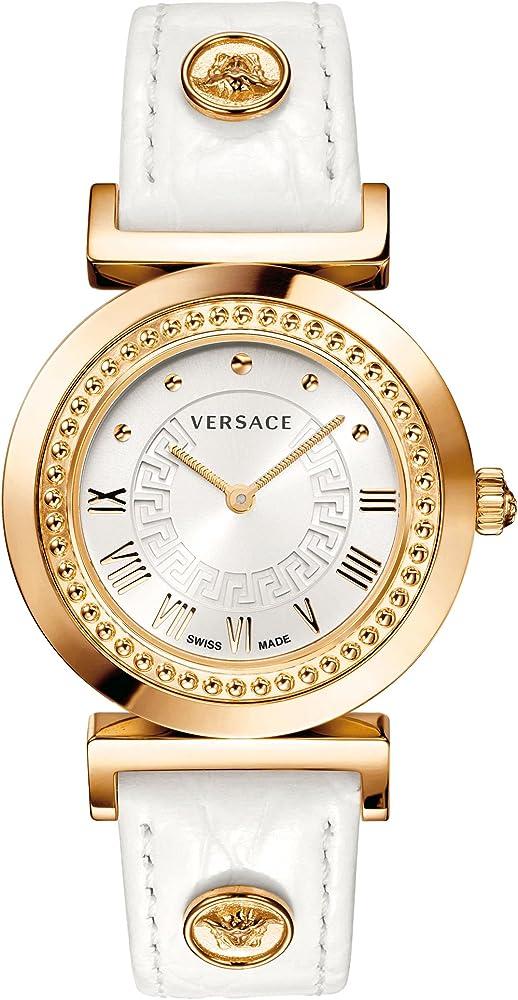 Versace orologio da donna cassa in pvd rosa e cinturino in pelle P5Q80D001 S001