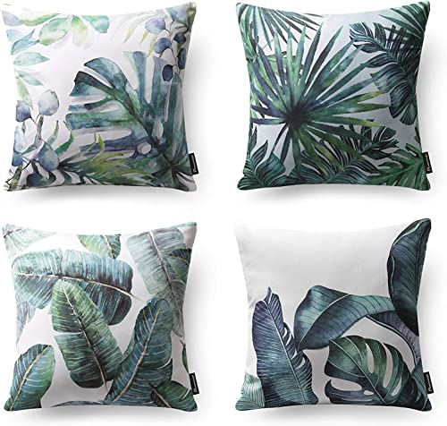 popular Phantoscope Set of 4 Tropical Palm sale Leaves Plant Printed Throw Pillow Case Cushion Cover, Dark Green, 18 x outlet sale 18 inches, 45 x 45 cm sale