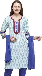 Ethnic Label Women Cotton Salwar Suit (1299a_SKY BLUE_SKY BLUE_Medium)