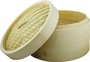 "School of Wok - Bamboo Steamer Basket, 2 Tier, 10""/2"