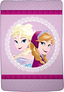 "Franco Kids Bedding Super Soft Blanket, Twin/Full Size 62"" x 90"", Disney Frozen"