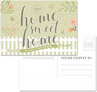 """Moving Announcement Postcards - Pack of 50 Home Sweet Home 4.25"""" x 6"""" Postcards. Qualifies for First Class Postcard Postage Rates."""
