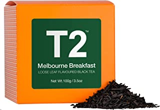 T2 Tea - Melbourne Breakfast Black Tea, Loose Leaf Black Tea in a Box, 100g (3.5oz)