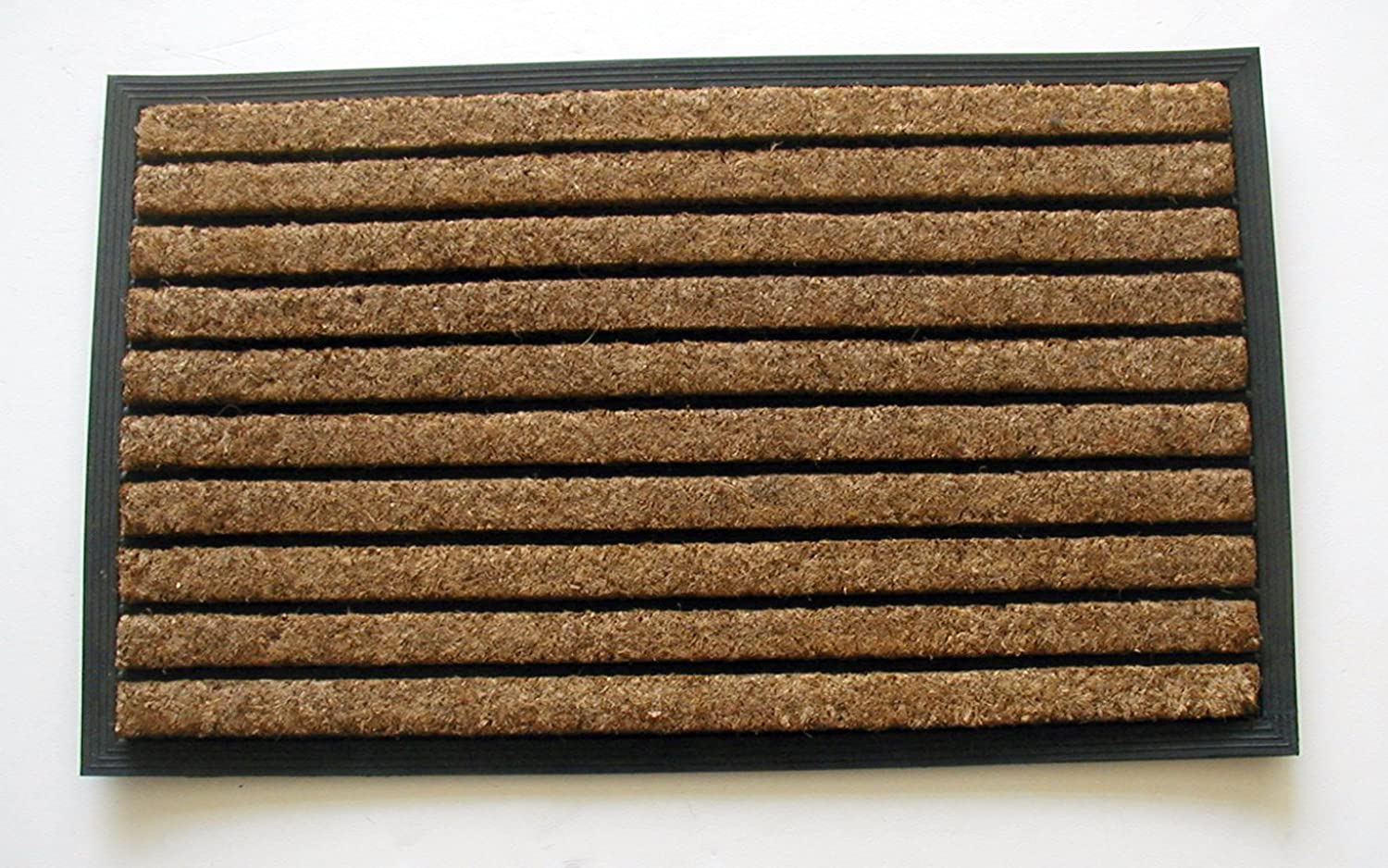 Geocrafts Rubber Back Natural Ribbed Doormat, 24 by 39-Inch