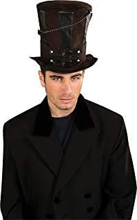 Rubie's Costume Steampunk Top Hat With Chains and Buckles