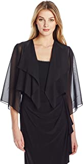 Alex Evenings Gasa Hanky Dobladillo Bolero Cover-up